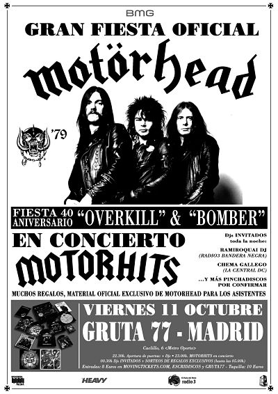 Fiesta MOTÖRHEAD 40 Aniversario