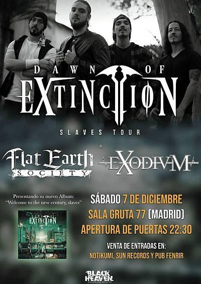 DAWN OF EXTINCTION + EXODIUM + FLAT EARTH SOCIET